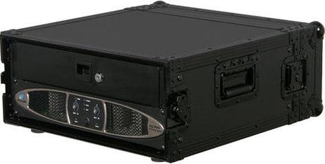 Odyssey FZAR04BL  Black Label Series 4 RU Amp Rack Case FZAR04BL