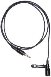 OWI CRS-LMIC  Black Cardioid Directional Lapel Mic with Clip for CRS-101 Infrared Wireless Mic System CRS-LMIC