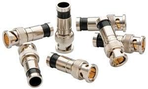 Paladin Tools 9715  10 Pack of RG6/6Q Compression BNC Connectors 9715