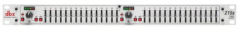 DBX 215s Dual 15-Band Channel 2/3 Octave Graphic Equalizer 215S
