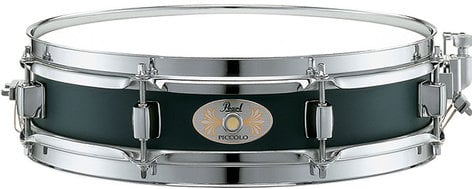 "Pearl Drums S1330B 3""x13"" Black Steel Piccolo Snare Drum S1330B"