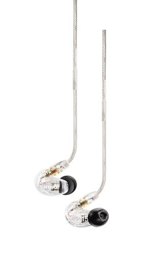 Shure SE215-CL Single-Driver Sound Isolating Earphones with Clear Housing SE215-CL