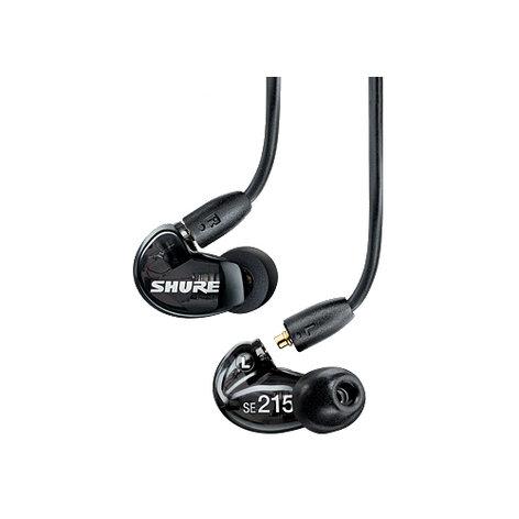 Shure SE215-K Single-Driver Sound Isolating Earphones with Black Housing SE215-K