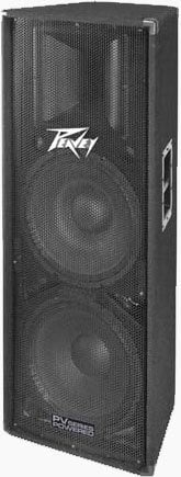 """Peavey PV215D 400W Powered PV Series Loudspeaker with 2x 15"""" Woofers PV215D"""