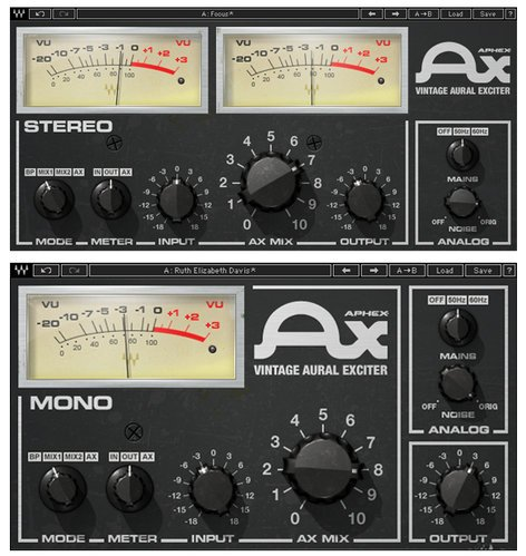 Waves Aphex Vinatge Aural Exciter Vintage Aural Exciter Plugin AXTDM
