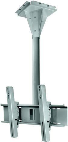 "Peerless ECMU-01-C 1 ft. Long Black Universal Wind-Rated Outdoor Concrete Ceiling Mount for 32""-65"" Flat Panel Screens ECMU-01-C"