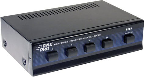 Pyle Pro PSS4  4-Zone Speaker Switcher PSS4