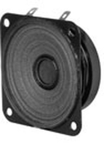 "Quam 25C25Z80T  2.5"", 4W, 8 Ohm Square Moisture/Weather-Resistant Speaker 25C25Z80T"