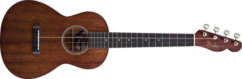 Fender Ukulele Hau'oli Natural Mahogany Folk Music Series Tenor Ukulele with Wound C UKULELE-HAUOLI