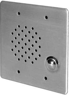 Quam CIS2/45  3-Gang Stainless Steel In-Wall Call-In Station with 45 Ohm Voice Coil CIS2/45