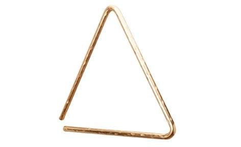 "Sabian 61135-6B8H 6"" B8 Hand Hammered Bronze Triangle in Natural Finish 61135-6B8H"