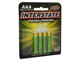 Interstate Battery DRY0035 Workaholic AAA Batteries, 4pk DRY0035