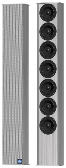 175W Mechanically Steerable Passive Column Array Loudspeaker in Black