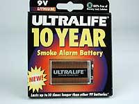 Lithium Smoke Alarm Battery, 9V
