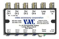Video Distribution Amp 1X4