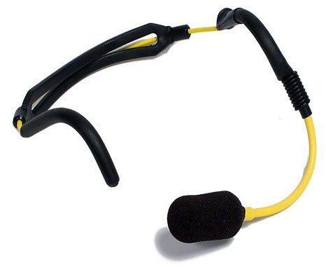 Watrproof Headworn Mic, with Replaceable Cable
