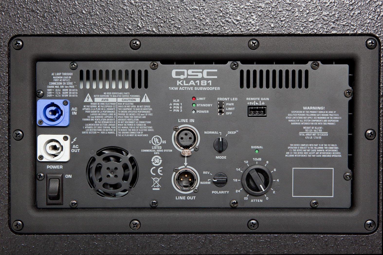 "18"" 1000W Active Line Array Subwoofer"