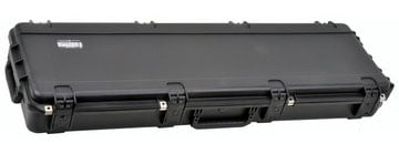Hardshell Electric Bass Case with Wheels and Layered Foam