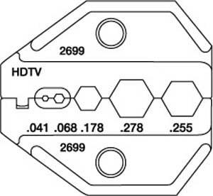 Universal HDTV Die Set for CrimpALL/8000 & 1300 Series