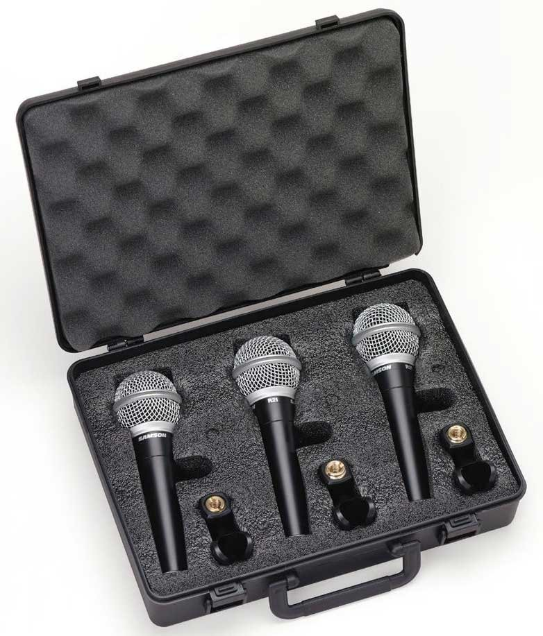 3-Pack of Dynamic Vocal Microphones