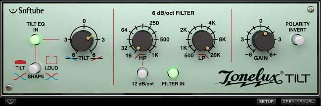 EQ Plugin with Switchable 6 or 12dB/Octave Filter