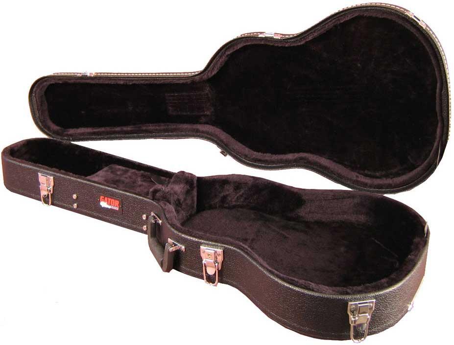 Hardshell Wooden 3/4 Acoustic Guitar Case