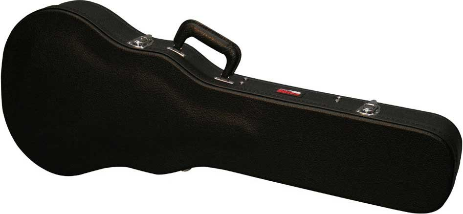 Hardshell Wooden Double-Cutaway Electric Guitar Case