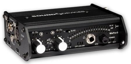 Field Mixer, 2 Channel, Mic Preamp, Battery/External DC Power