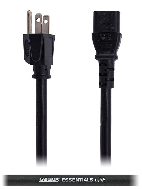 Cable Up by Vu IEC-ED-14-1.5 1.5 ft 14 AWG IEC Power Cable IEC-ED-14-1.5