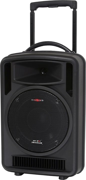 Traveler PA System with 2 mics & receivers, audio link & CD player
