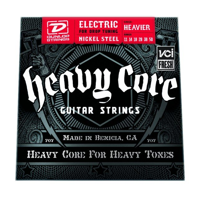 Dunlop Manufacturing Heavy Core Electric Guitar Strings Heavier Strings, Elec 11-50 Heavy 6/st DHCN1150