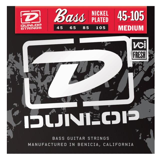 Dunlop Manufacturing DBN45105 Medium Nickel-Plated Steel Bass Strings DBN45105