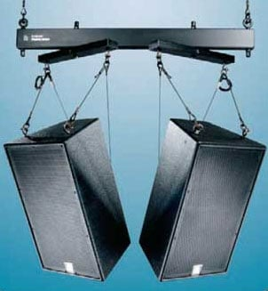 "66"" Two-Way Array Speaker Mounting System in Black"