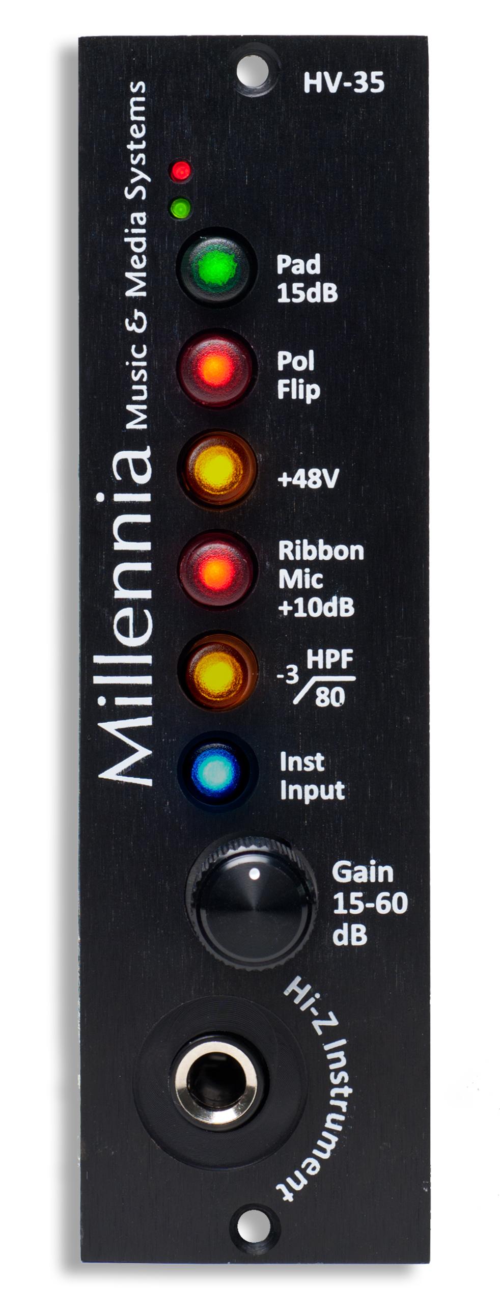 Millennia Media Inc HV-35 500 Series Microphone & Instrument Preamplifier Module HV35