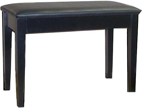 Piano Bench with Underseat Storage in Black