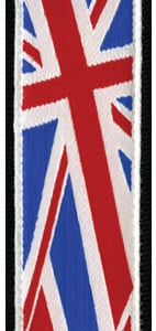 Planet Lock Guitar Strap with Union Jack Flag Pattern