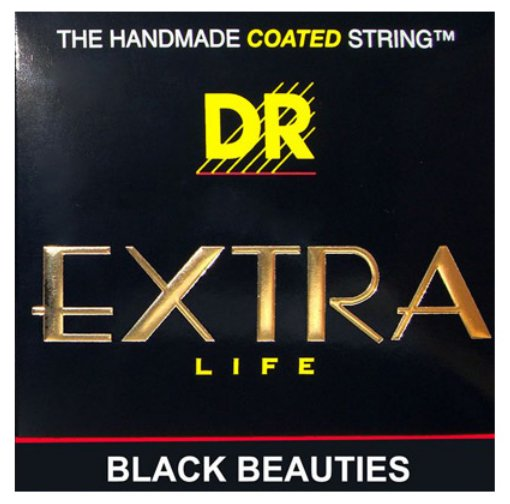 Medium Extra Life Black Beauties Coated Electric Guitar Strings