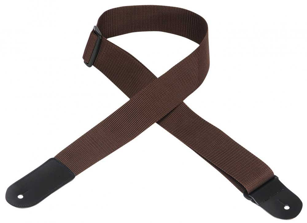 "2"" W Polypropylene Guitar Strap with Large Leather End"