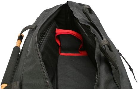"Black 38"" Long Tripod Mummy Case"