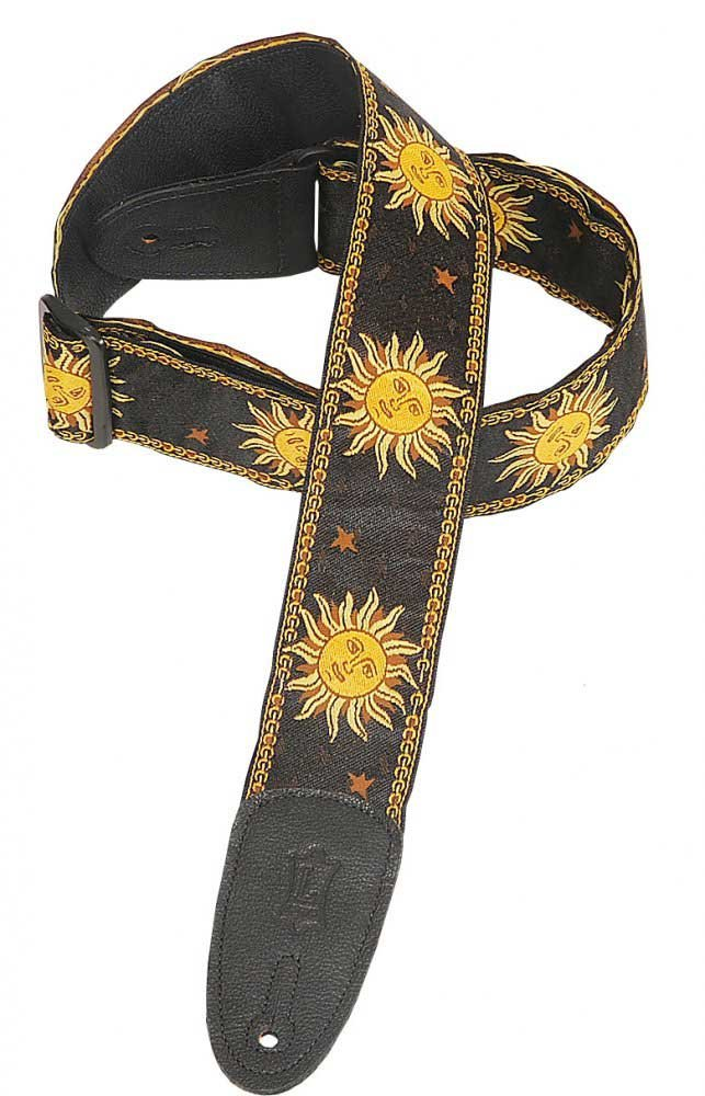 "2"" Jacquard Weave Guitar Strap with Sun Design"
