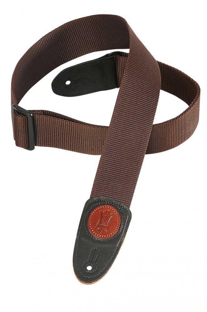 "Signature Series Guitar Strap, 2"" Polypropylene w/Leather Ends"