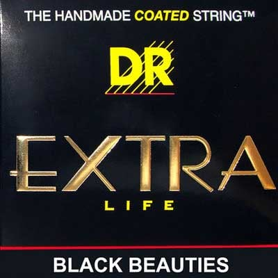 Heavy Black Beauties Coated Electric Bass Strings