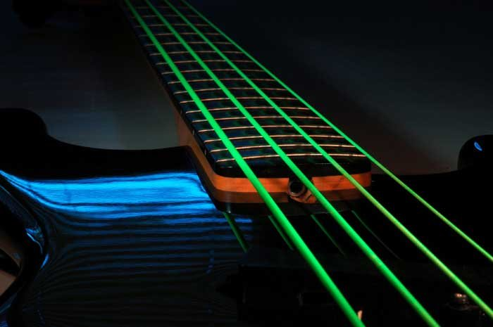 Bass Strings, NEON HiDef Green SuperStrings, 5-String Medium 45-105