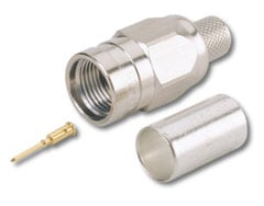 F Connector, Crimp Type for V-5C cable