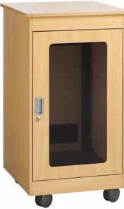 """12RU, 28"""" D Maple F1 Series Furniture Rack"""