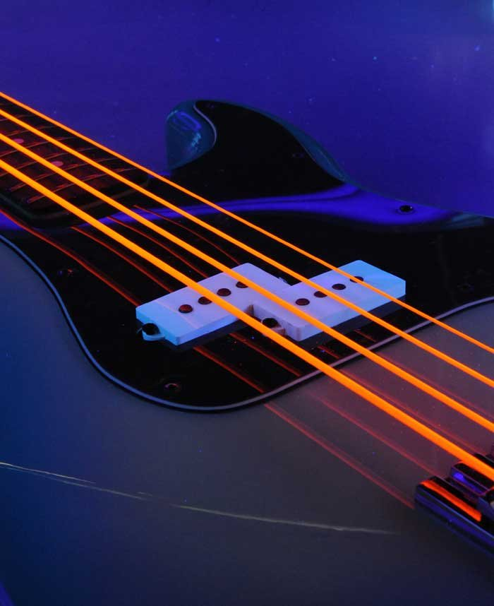 Bass Strings, NEON™ HiDef Orange SuperStrings™, 5-String Medium 45-125