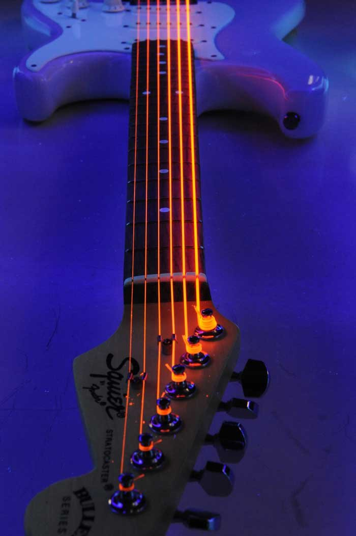 Light NEON HiDef SuperStrings Electric Guitar Strings in Orange