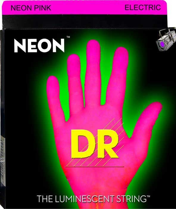 Heavy NEON HiDef SuperStrings Electric Guitar Strings in Pink