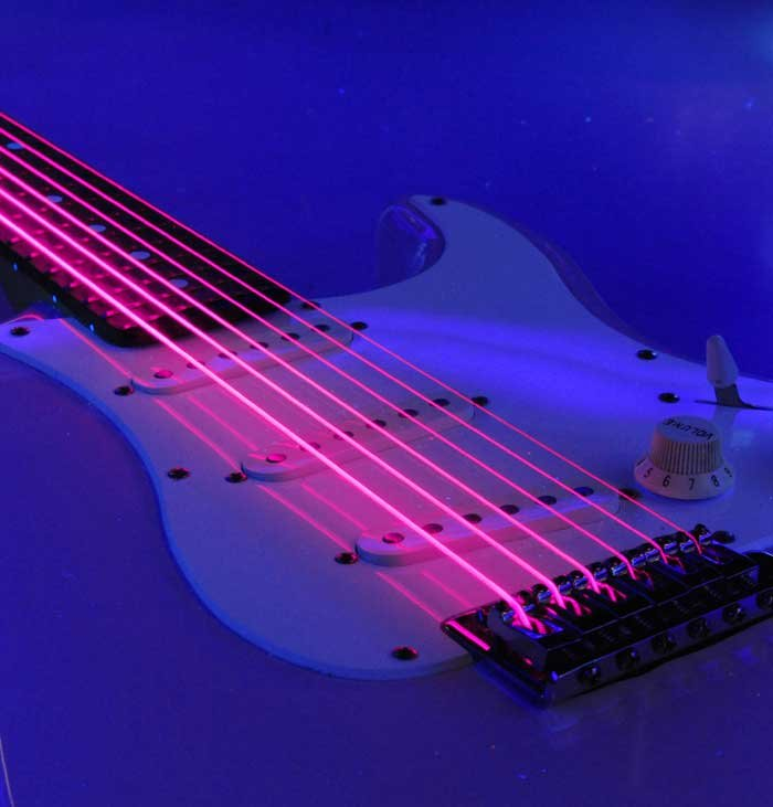 Light NEON HiDef SuperStrings Electric Guitar Strings in Pink
