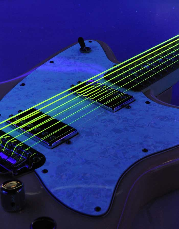 Light NEON HiDef SuperStrings Electric Guitar Strings in Yellow